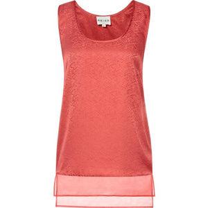 NWT REISS Stefani Silk Lava Red Top